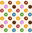Dessert food seamless pattern with colorful vector image