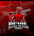 devil gunners esport mascot logo vector image vector image