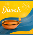 diwali candle concept background cartoon style vector image