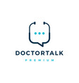 doctor chat talk logo icon vector image