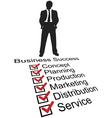 entrepreneur silhouette vector image