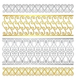 fence damask artistic pattern vector image vector image