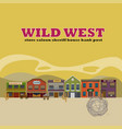 flat wild west street scenery background vector image vector image