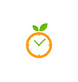 fruit time logo icon design vector image vector image