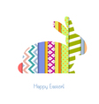 Greeting card with Easter Bunny vector image vector image