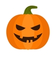 halloween pumpkin with sinister smiling vector image vector image