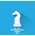 International chess day background chess