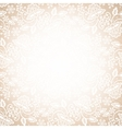 lace frame on beige background vector image vector image