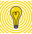 Lamp on yellow ripple background vector image