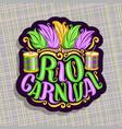 logo for rio carnival vector image vector image