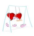 love hearts enjoying swing ride vector image vector image