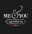 me you chalkboard black vector image