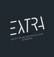 minimalistic style font design vector image