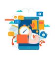 mobile application development process vector image vector image
