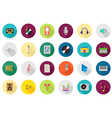 Music round icons set vector image vector image