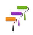 Paint rollers isolated on vector image vector image