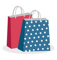paper bags with handles shopping packages vector image vector image