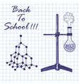 Physics theme vector image vector image