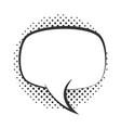 pop art speech bubble blank halftone style linear vector image vector image