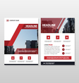 Red annual report Leaflet Brochure Flyer templates vector image vector image