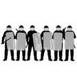 riot police vector image