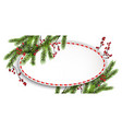 round frame and branches vector image vector image
