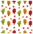 Seamless Autumn pattern background Set design vector image vector image