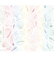 seashell pattern rainbow gradients marine vector image