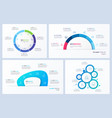 set minimal infographic templates 6 vector image vector image