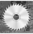 Silver Metal Saw Disc vector image vector image