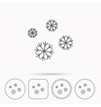 Snowflakes icon Snow sign Air conditioning vector image vector image