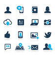 Social Icons Azure vector image vector image