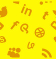 social media network background with circles and vector image vector image