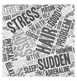Sudden Hair Loss Is stress is the cause text vector image vector image