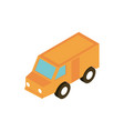 transport courier truck vehicle isometric icon vector image vector image