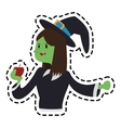 witch cartoon icon vector image vector image