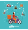 Logistic and delivery courier service concept vector image