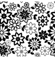geometrical flowers seamless pattern vector image