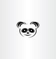 panda icon stylised icon vector image