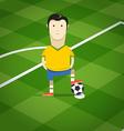 World soccer championship in Brazil vector image