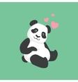 Cute Panda In Love Bamboo vector image