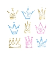 sketch drawing princess and the king crown vector image
