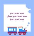 baby boy greeting card vector image