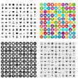 100 totalizator icons set variant vector image vector image