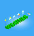 3d isometric weather vector image
