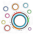 496colorful circle background vector image vector image