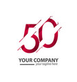 50 year anniversary your company template design vector image vector image