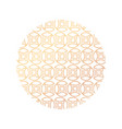 abstract lines pattern in circle vector image vector image