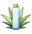aloe vera plastic bottle icon cartoon style vector image vector image