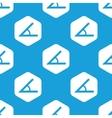 Angle hexagon pattern vector image